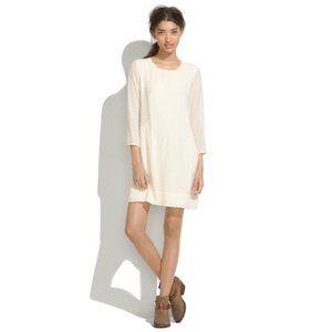 Madewell XS Cream Silk Etude Lined Dress